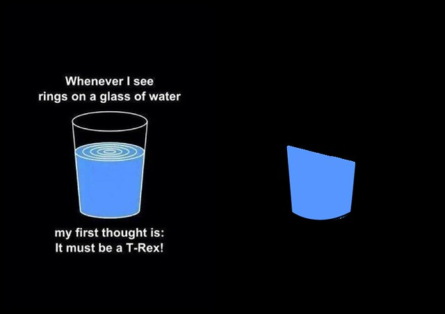 Film references in small cartoons about glasses of water