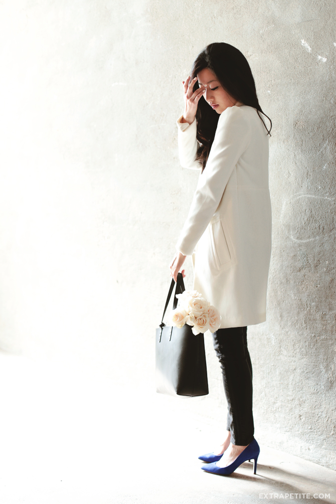 cream coat mansur gavriel tote