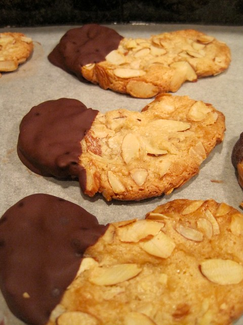 Chocolate-Dipped Marzipan Almond Crescent Cookies | Flickr - Photo ...