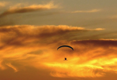 california sunset sunsets paragliding northern paraglider ppg powered paramotor