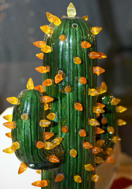 Cactus Ceramic With Lights Flickr Photo Sharing