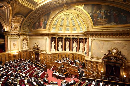 Hémicycle du Sénat élus