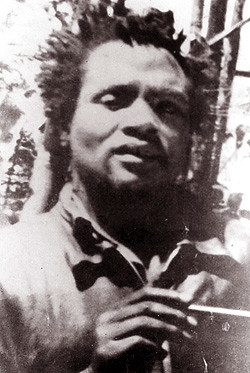 A rare photograph of the Field Marshal of the Kenyan Land and Freedom Army, Dedan Kimathi, taken during the uprising of the 1950s. Kimathi was executed by the British in 1957. KLFA veterans are seeking reparations from the British government. by Pan-African News Wire File Photos