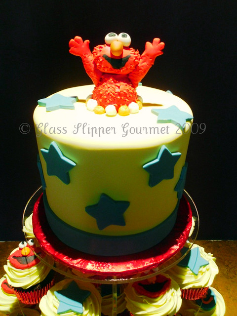 Elmo Cake Topper And Cupcakes For Chase S 1st Birthday His