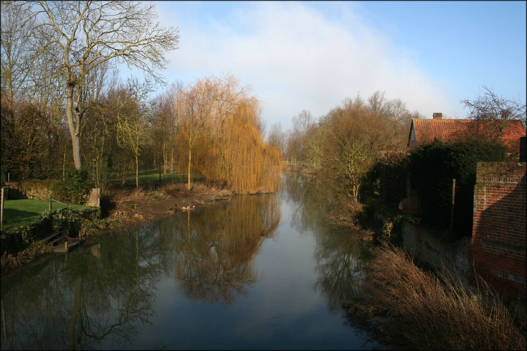 The River Stour in Bures