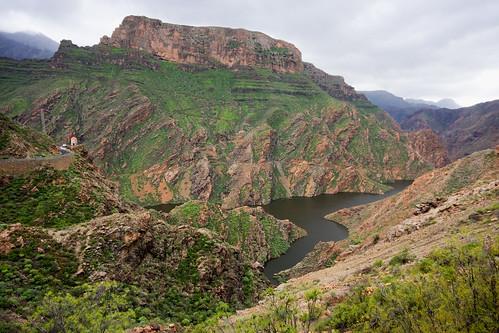 Presa del Parralillo.Ruta de las presas de la Aldea a Artenara.Gran Canaria. (15-02-10) by El coleccionista de instantes