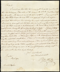 Phillis Wheatley to Reverend Samuel Hopkins [Page 1]