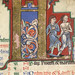 The Hunterian Psalter: Calendar. Historiated 'K' from July.