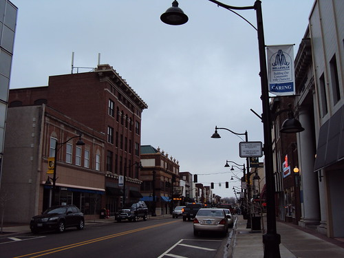 Main Street East from Town Square - Belleville Illinois