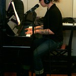 Erin McKeown in Studio A on 3/18/10  photos copyright 2010 -gaylemiller.com