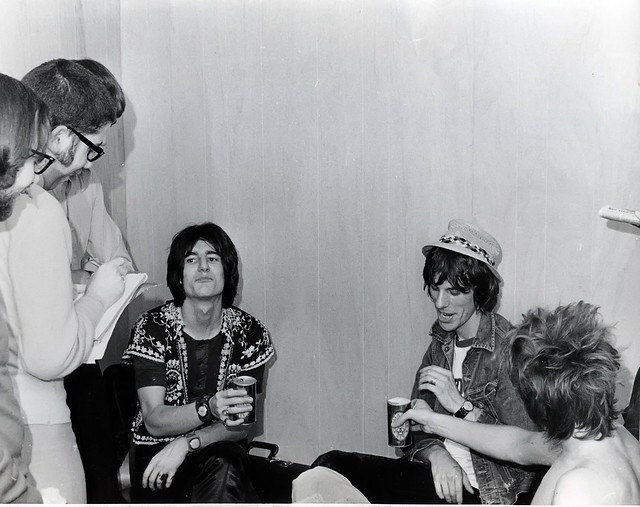 Me (With Notepad) Interviewing Ron Wood, Jeff Beck and Rod Stewart...Alexandria, VA Roller Rink