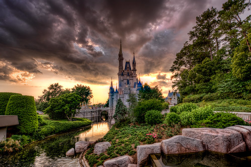 world sunset castle magic kingdom disney cinderella walt hdr photomatix stunningphotogpin