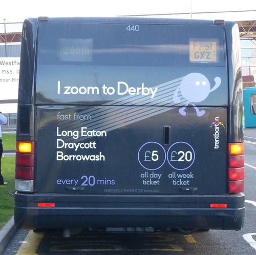 FP51 GXZ 'trentbarton' 'ZOOM' No. 440 Optare Solo  on 'Dennis Basfords railsroadsrunways.blogspot.co.uk'