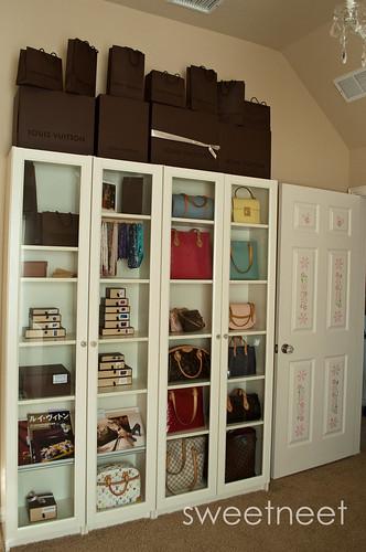storage in a ikea pax wardrobe purseforum