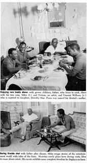Miles Davis At A Family Dinner and Later with His Father - Ebony Magazine, November, 1959