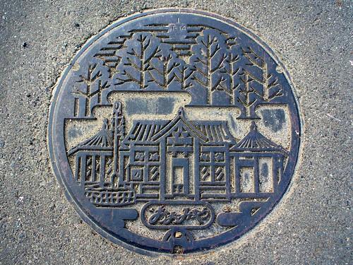 Omiya town Kyoto pref manhole cover(京都府大宮町のマンホール)