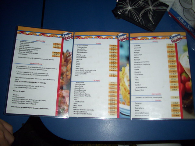 Menu Venezolano http://www.flickr.com/photos/tatadbb/4168859605/