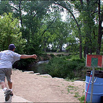 Mark Step throwing hole#9 at Arvada summer of 2003.