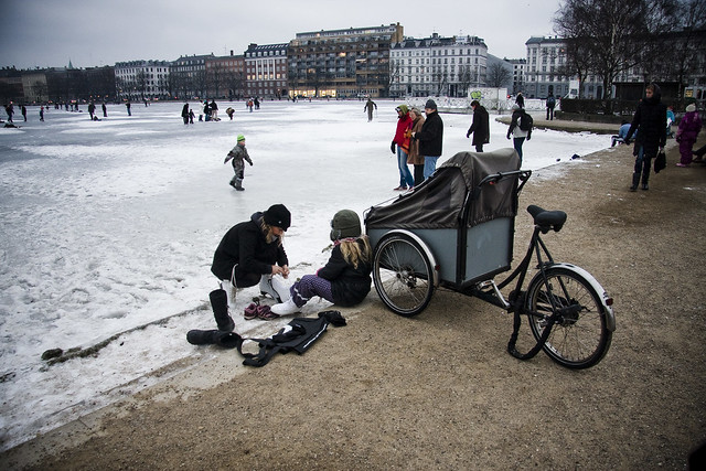 Skates - Cycling in Winter in Copenhagen