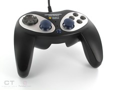 computer component(0.0), steering wheel(0.0), game controller(1.0), electronic device(1.0), multimedia(1.0), joystick(1.0), gadget(1.0),