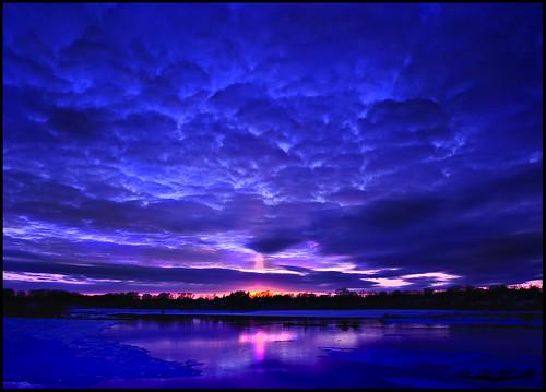 blue winter sunset landscape nikon dusk nikkor martindalepond d90 18105vr