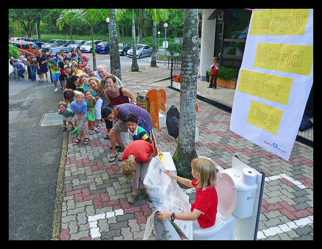 The World Toilet Organization gets in line for the World's Longest Toilet Queue