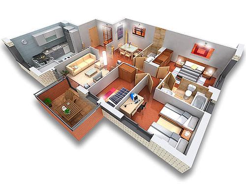 Dise o de planos en 3d visualizar antes de construir for Crear planos de casas 3d