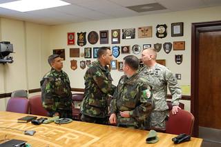 Algerian delegates visit Ranger Training Brigade - Ft. Benning, GA - 201003