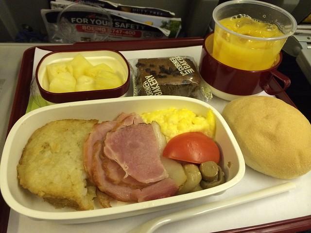 Ham and scrambled eggs - Philippine Airlines