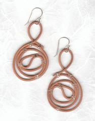 body jewelry, brown, metal, jewellery, earrings,