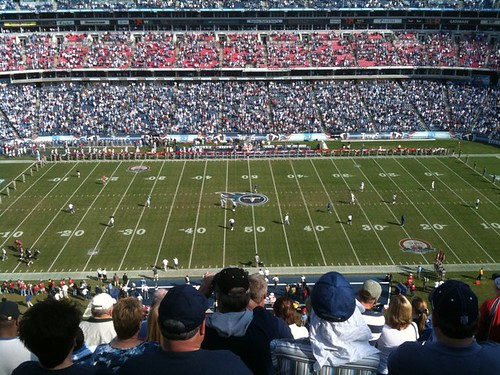 First Titans (and NFL) game ever with @itcouldbepic. Pretty excited.