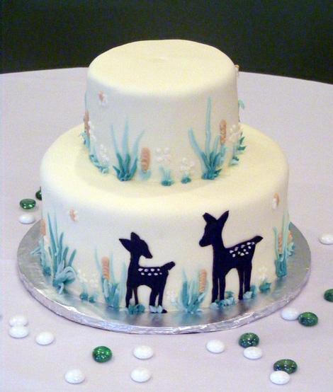 Nature Baby Shower Cake