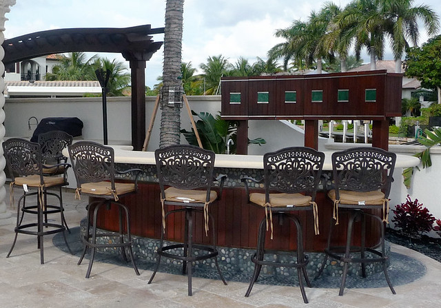 Patio bar and grill with custom storage flickr photo for Balcony grill and bar