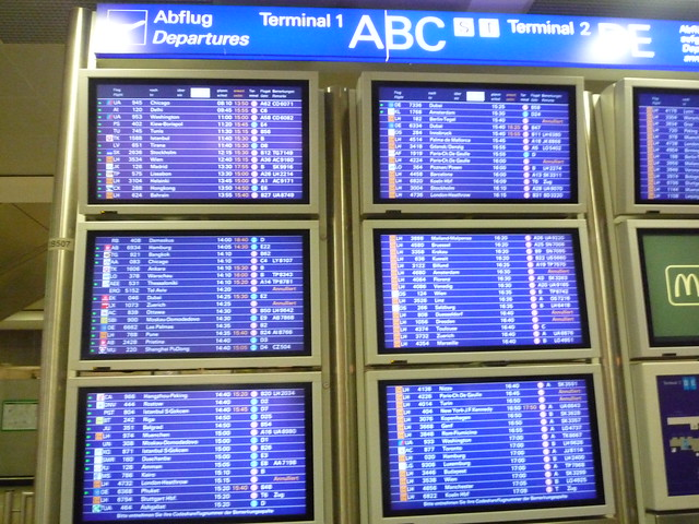 Frankfurt Airport - Departure board by Terminal 1 ...
