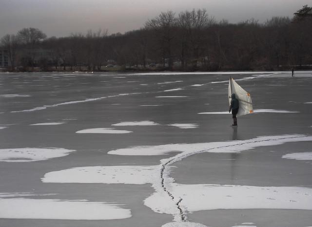 frozen Lake Quannapowitt, Wakefield, Massachusetts (2010)