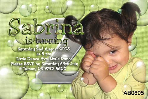 Two Year Olds Birthday Invitations