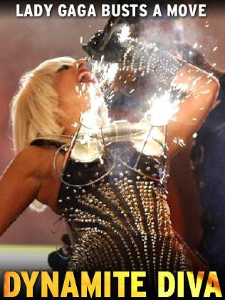 Lady Gaga AMA Fire Bra