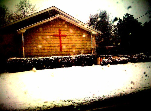"A ""Cross"" The Snow"