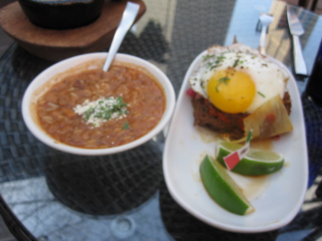 Nada: Barbacoa tamale w/fried egg, red beans and rice | Flickr - Photo ...