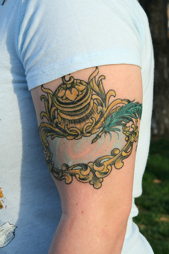 Inkwell and Quill Tattoo - TheNerdNestQuill And Inkwell Tattoo