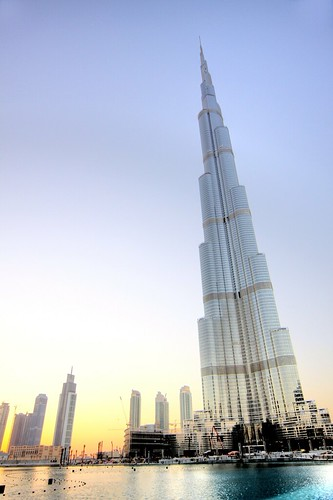 world sunset sky sunrise dubai uae arab burj highest
