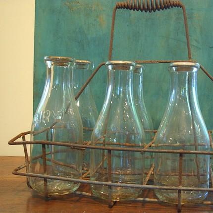 antique milk bottle carrier antiques center. Black Bedroom Furniture Sets. Home Design Ideas