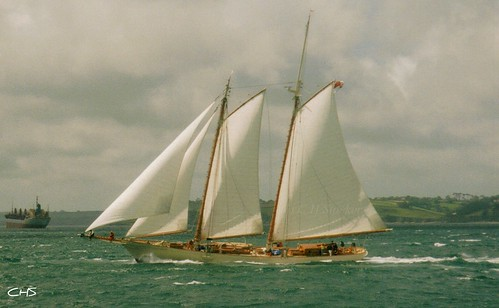 Atlantic Challenge Race 1997, off Falmouth, Cornwall by Stocker Images