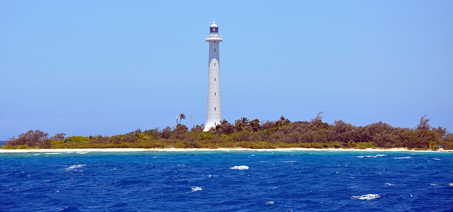 Beautiful Amedee Lighthouse from the pacific ocean