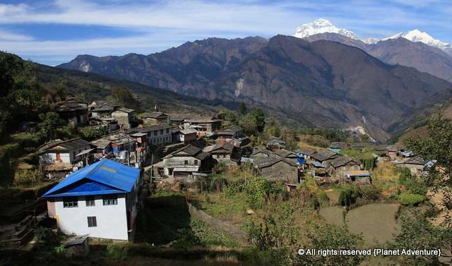 Nepali Village -  Annapurna Circuit Trek - Nepal