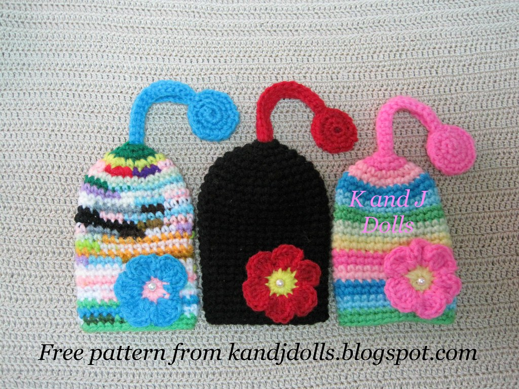 Original Crochet Amigurumi Flowers : Flower key cozy, free amigurumi crochet pattern Flickr ...