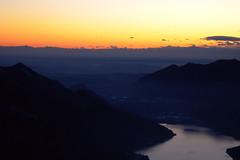 Lanzo d'Intelvi, il lago di Lugano al tramonto visto dalla Sighignola (Balcone d'Italia) - Dicembre 2009