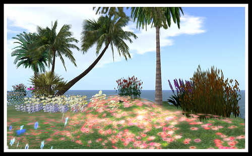 My tropical garden paradise in Second Life, Feb  2010