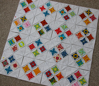 Cathedral Windows Quilt-4 x 4