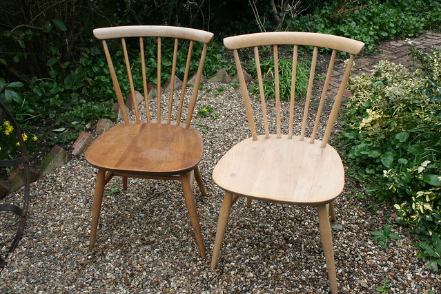 Windsor Chairs - Arrowback, Wooden, Steambent